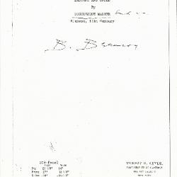 Image for K0309 - Expert opinion by Berenson, circa 1920s-1950s