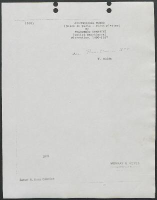 Image for K0308 - Expert opinion by Suida, circa 1920s-1950s