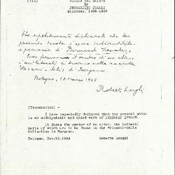 Image for K0315 - Expert opinion by Longhi, 1935