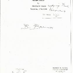Image for K0329 - Expert opinion by Berenson, circa 1920s-1950s