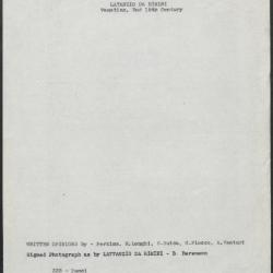 Image for K0322 - Art object record, circa 1930s-1950s