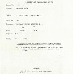 Image for K0318 - Condition and restoration record, circa 1950s-1960s