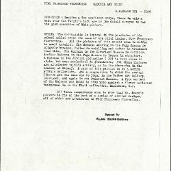 Image for K0321 - Alan Burroughs report, circa 1930s-1940s