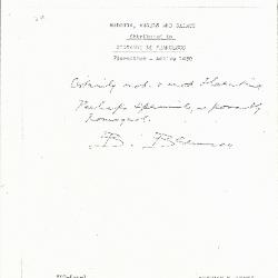 Image for K0320 - Expert opinion by Berenson, circa 1920s-1950s