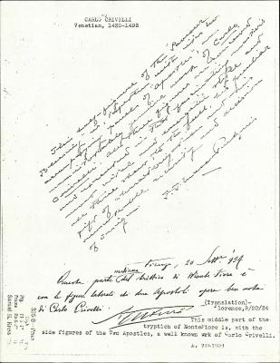 Image for K0336A - Expert opinion by Perkins et al., circa 1920s-1940s