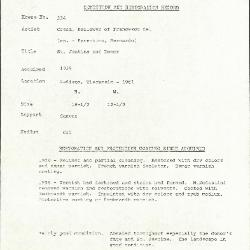 Image for K0334 - Condition and restoration record, circa 1950s-1960s