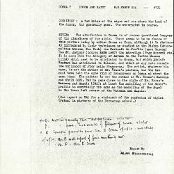 Image for K0334 - Alan Burroughs report, circa 1930s-1940s