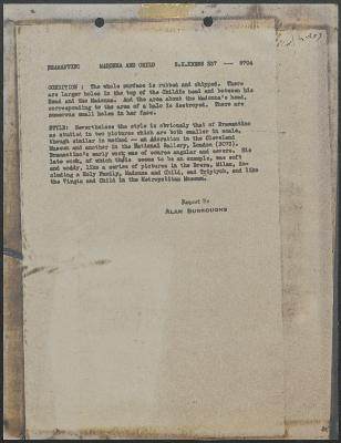 Image for K0337 - Alan Burroughs report, circa 1930s-1940s