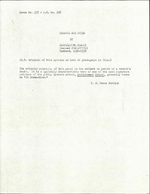 Image for K0337 - Expert opinion by Perkins, circa 1920s-1940s