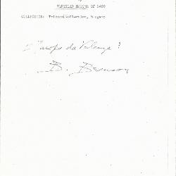 Image for K0338 - Expert opinion by Berenson, circa 1920s-1950s