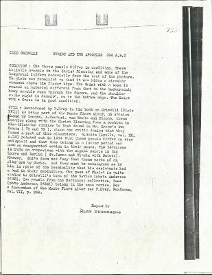 Image for K0336A - Alan Burroughs report, circa 1930s-1940s
