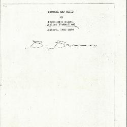 Image for K0337 - Expert opinion by Berenson, circa 1920s-1950s
