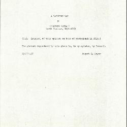 Image for K0344 - Expert opinion by Mayer, 1935