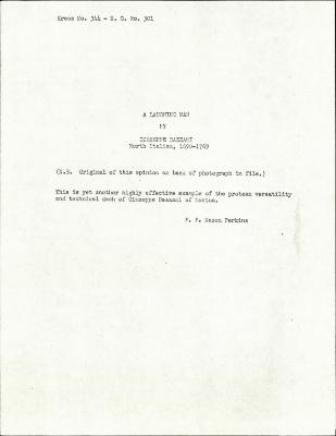 Image for K0344 - Expert opinion by Perkins, circa 1920s-1940s