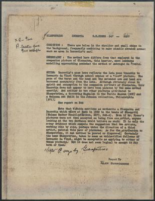 Image for K0346 - Alan Burroughs report, circa 1930s-1940s