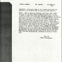 Image for K0344 - Alan Burroughs report, circa 1930s-1940s