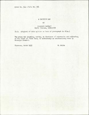 Image for K0344 - Expert opinion by Suida, 1935