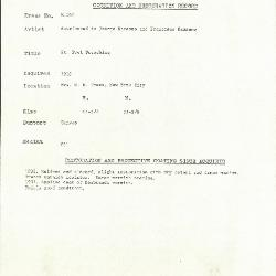 Image for K0340 - Condition and restoration record, circa 1950s-1960s