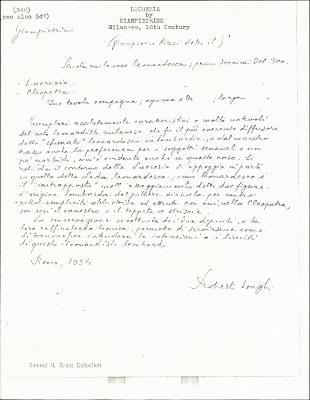 Image for K0346 - Expert opinion by Longhi, 1934