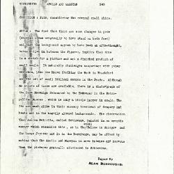 Image for K0343 - Alan Burroughs report, circa 1930s-1940s