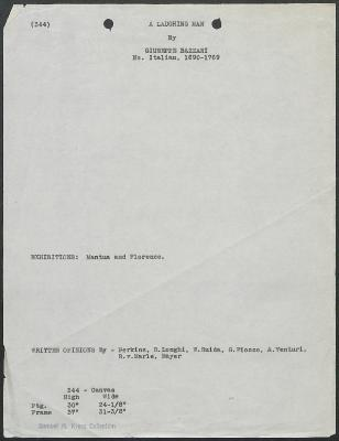 Image for K0344 - Art object record, circa 1930s-1950s