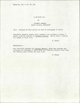 Image for K0344 - Expert opinion by Fiocco, circa 1930s-1940s