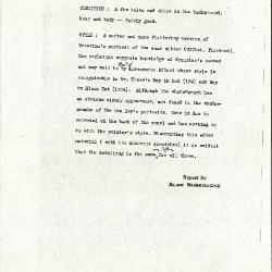 Image for K0353 - Alan Burroughs report, circa 1930s-1940s