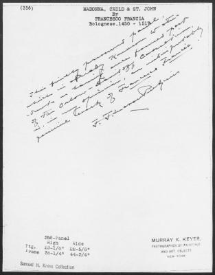 Image for K0356 - Expert opinion by Perkins, circa 1920s-1940s