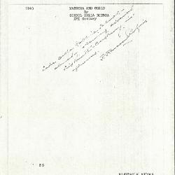 Image for K0035 - Expert opinion by Perkins, circa 1920s-1940s