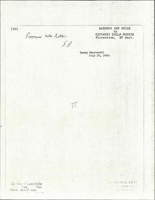 Image for K0035 - Expert opinion by Swarzenski, 1940
