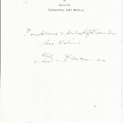 Image for K0353 - Expert opinion by Berenson, circa 1920s-1950s
