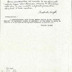 Image for K0372 - Expert opinion by Longhi, circa 1920s-1950s