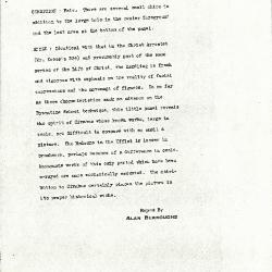 Image for K0361 - Alan Burroughs report, circa 1930s-1940s