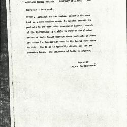 Image for K0360 - Alan Burroughs report, circa 1930s-1940s