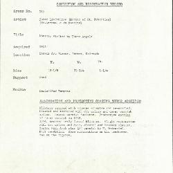Image for K0367 - Condition and restoration record, circa 1950s-1960s