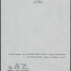 Image for K0360 - Art object record, circa 1930s-1950s