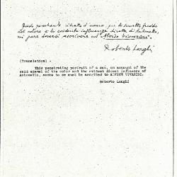 Image for K0370 - Expert opinion by Longhi, circa 1920s-1950s