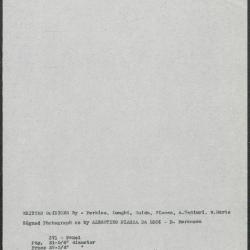 Image for K0371 - Art object record, circa 1930s-1950s