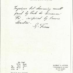 Image for K0038 - Expert opinion by Fiocco, circa 1930s-1940s