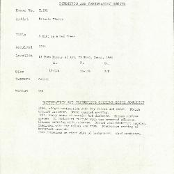 Image for K0391 - Condition and restoration record, circa 1950s-1960s