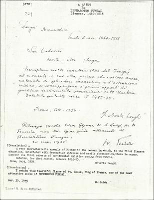 Image for K0378 - Expert opinion by Longhi et al., 1934