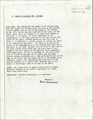 Image for K0038 - Alan Burroughs report, circa 1930s-1940s