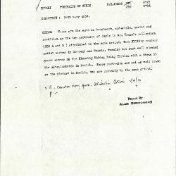 Image for K0392 - Alan Burroughs report, circa 1930s-1940s