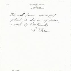 Image for K0039 - Expert opinion by Fiocco, circa 1930s-1940s