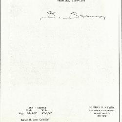 Image for K0388 - Expert opinion by Berenson, circa 1920s-1950s
