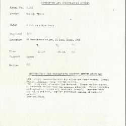 Image for K0392 - Condition and restoration record, circa 1950s-1960s