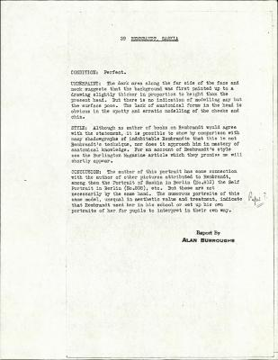 Image for K0039 - Alan Burroughs report, circa 1930s-1940s