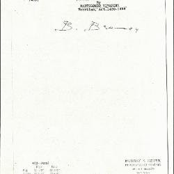 Image for K0423 - Expert opinion by Berenson, circa 1920s-1950s