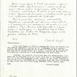 Image for K0424 - Expert opinion by Longhi, 1936