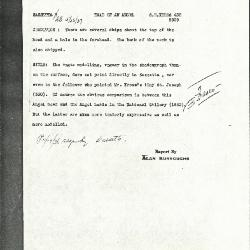 Image for K0425 - Alan Burroughs report, circa 1930s-1940s